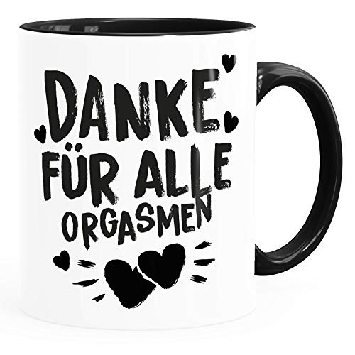 Moonworks® Kaffee-Tasse Danke für alle Orgasmen Geschenk Liebe lustig Freund Mann Frau Freundin Inner-Schwarz Keramik-Tasse