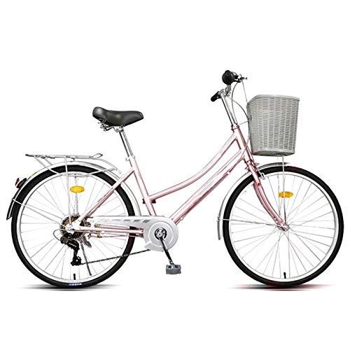 Bicicleta Plegable Para Adultos, Trabajo Ligero Para Mujer Adulto Ultra Ligero Variable Variable Portátil Pequeño Estudiante Pequeño Estudiante Masculino Bicicleta Portador Plegable Bicicleta Con Cest