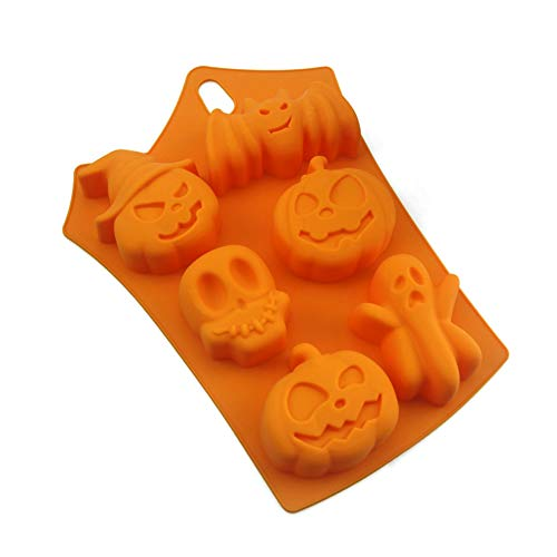 Naisicatar Moule de Silicone de Sucrerie de Halloween Ice Cube Mould Plateaux Fantôme Moule Citrouille pour Halloween Cuisson au Chocolat Coupes Muffin Ice Cube
