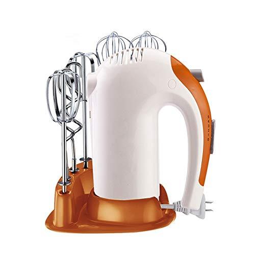 Elektrischer Handmixer, Cake Egg Cream Food Beater Mit 6 Rührstäbchen, Leichter 5-Gang-Handheld-Schneebesen Zum Backen in Der Küche,Orange