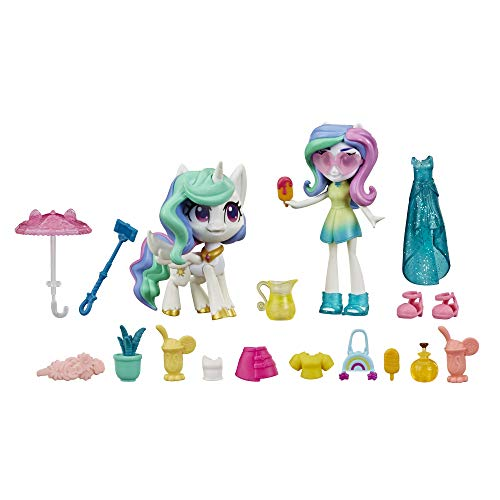 "My Little Pony Equestria Girls Princess Celestia Potion Princess Set -- 3"" Mini Doll & Toy Pony Figure with 20 Accessories"