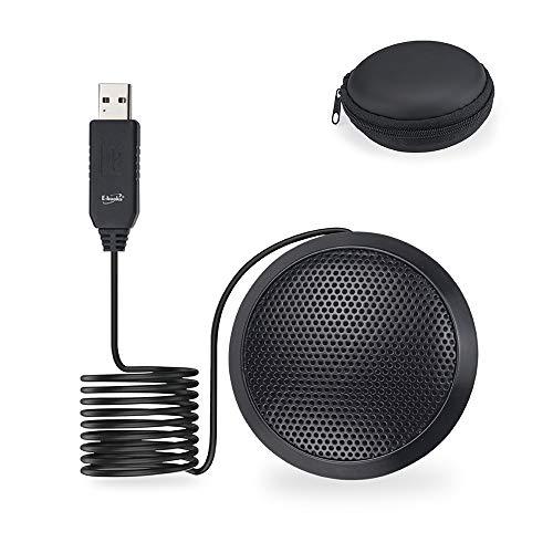 SS26 USB-Konferenzmikrofon, für Skype Zoom Videoanrufe, Interviews, Musikaufnahmen, Meetings, Podcasting, Gaming, YouTube-Videos für Desktop-PC/Laptop, Schwarz