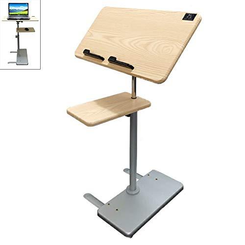 HPDOP Laptoptisch HöHenverstellbar,Laptoptisch, Stehpult, Laptop-Nachttisch, Sofa-Beistelltisch, HöHenverstellbar, Mit Rollen, Geeignet FüR Familie, BüRoarbeit, Lesen.