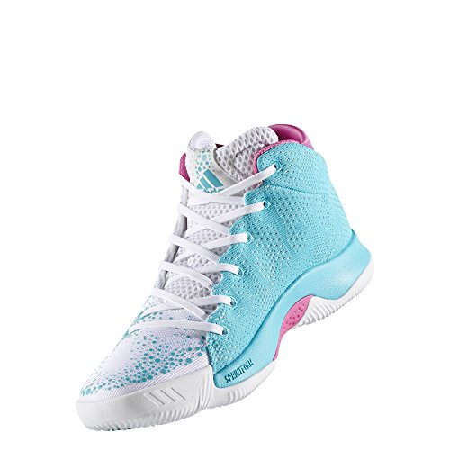 adidas Crazy Heat W, Zapatillas de Baloncesto para Mujer, Blanco (Ftwbla/Azuene/Ftwbla), 43 1/3 EU