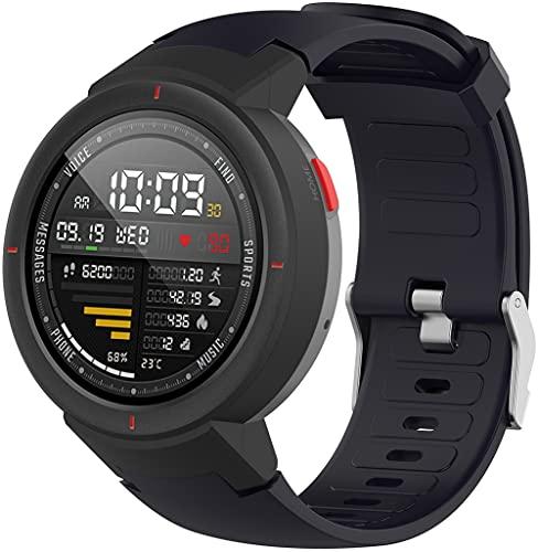 Gransho Pulseira de Relógio compatível com Amazfit Verge/Verge Lite, Pulseira de Reposição Esportiva Estreita de Silicone Macio Para Relógio Inteligente (Pattern 5)