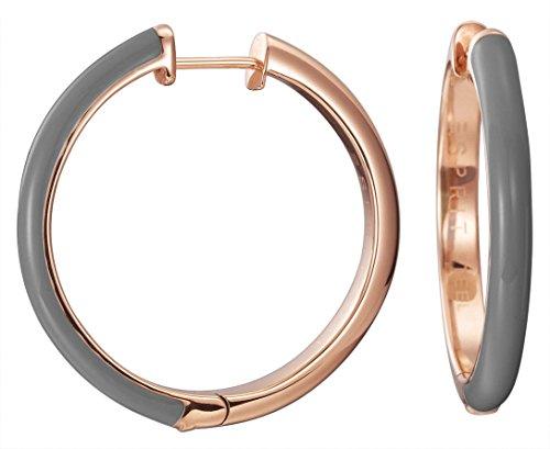 Esprit Jewels Damen-Creolen Edelstahl Fancy grey rose ESCO11656E000