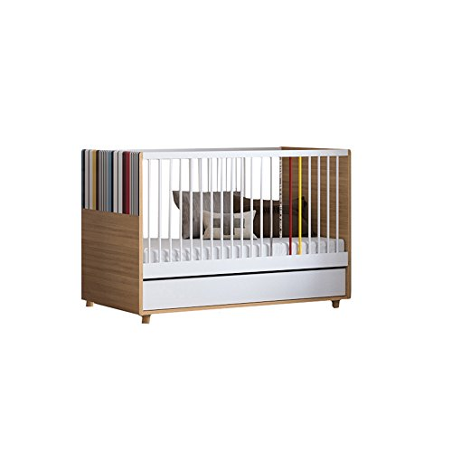 Little Guy Comfort Evolve Children's Convertible 3 in 1 Crib and Youth Toddler Bed Conversion Kit, Large, Oak