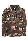 Superdry Hombre Cazadora Militar con Parches Camuflaje Militar XXXL