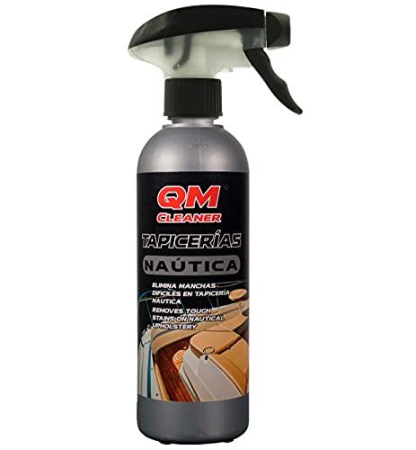 QM Cleaner - Tapicería Náutica   Limpiador específico para el Cuidado y la Limpieza de tapicerías embarcaciones - Elimina Manchas rápido y eficaz - 500ml