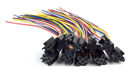 Install Bay 10 Pack 12' 5-Wire 4-Pin Relay Harness Socket w/Leads ERS-124