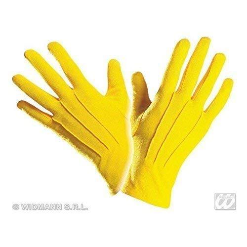 Lively Moments Kurze Handschuhe in Gelb / Kostüm Zubehör für Clown, Magier Oder Biene