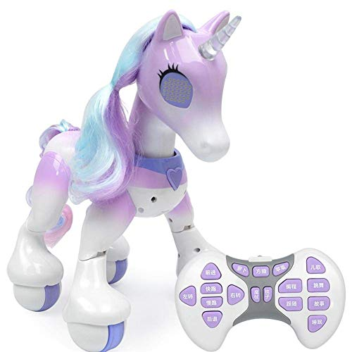 Electronic Pet Toy, Remote Control Unicorn with Touch Sensor Voice Activated Interactive Educational Robot for Children 6-Year-Olds Above, Boys & Girls