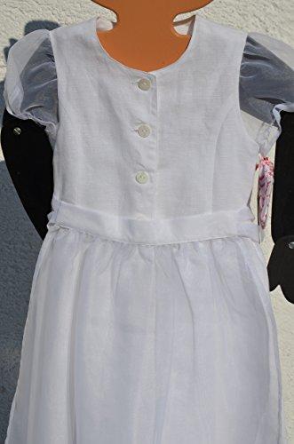 Käthe Kruse Dirndl Trachentkleid Kommuniondirndl Kleid Kinderkleid Gr. 152 Farbe: Weiss mit Schürze Material: 100% Leinen Schürze: Polyester Tracht Festliches Kleid für Kinder