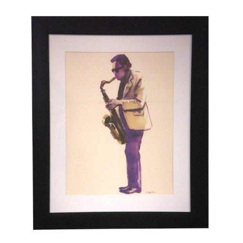 Art Master Cool Jazz Modern Frame Canvas Artwork, 16 by 20-Inch by Master Art