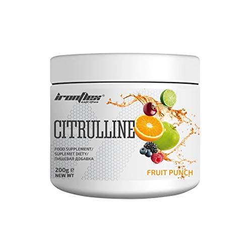 Iron Flex Citrulline Malate - 1 Pack - Post Workout Regeneration - Muscle Pump and Enhanced Strength - Stamina Support (Fruit Punch, 200g)