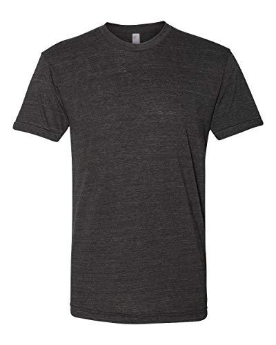American Apparel Unisex Tri-Blend Short Sleeve Track Shirt, Tri-Black, X-Large