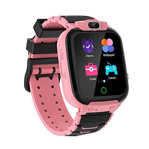 Smartwatch Kinder 1.44 Zoll HD Touch-Farbdisplay mit Musik Videoaufnahme Spiele Kamera Stoppuhr Wecker Rechner Smartwatch für Kinder Smartwatch Kinderuhr Geschenke Jungen Mädchen