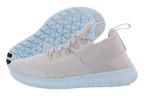 Nike Womens Free Rn CMTR Fabric Low Top Lace Up Running, Silver, Size 9.0