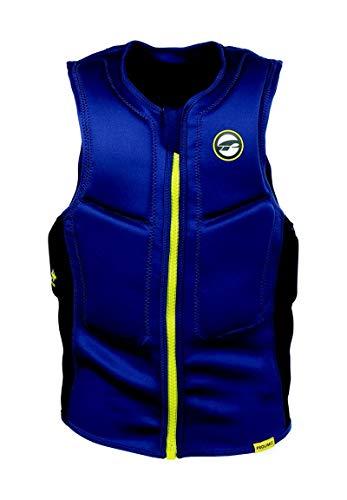Prolimit Mens Slider Watersports Waterski Jetski Wakeboarding Safety Impact Chaleco - Mitad Superior Acolchado FZ - Azul Navy - Fácil