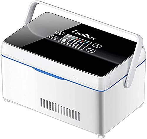 Tragbare Insulin Kühlbox, für Medikamente Mini Intelligente Elektrische Kühlschrank Kühltasche, Thermostat unter 26 ° C, mit KFZ USB Ladekabel, für Reise&Haushalt,2*Battery