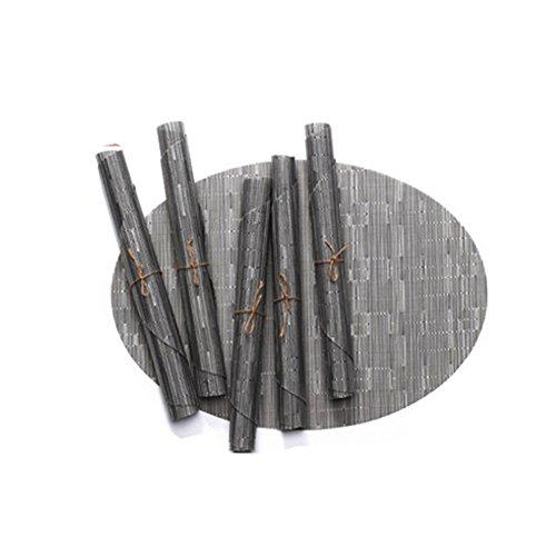 Toruiwa. Sets de Table Ovale Napperons en PVC Résistant à la Chaleur Lavable Antidérapant pour Salle à Manger Restaurant Jardin Cuisine Hôtel 45 * 32.5cm