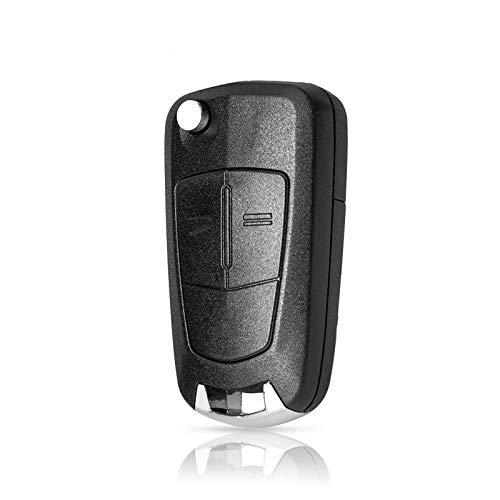 NIUASH 2/3 Botones Flip Remote Car Key Shell Funda para Opel Vauxhall Corsa D Insignia Astra JG Vectra C Zafira A Mokka