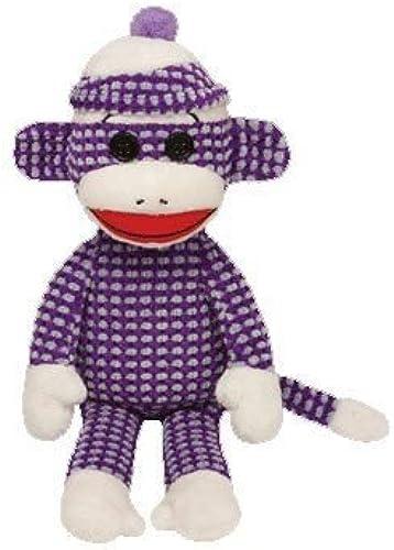Los mejores precios y los estilos más frescos. Ty Ty Ty Beanie Babies Sock Monkey Plush, púrpura Quilted by Ty Beanie Babies  ventas en linea