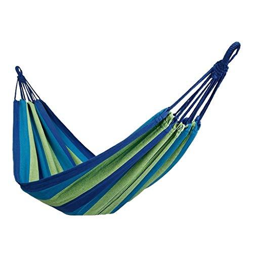XHHWZB Hamaca para Acampar, Hamaca de Nylon para Hamaca para Acampar, Ultra Liviana y portátil, para mochileros al Aire Libre, excursiones, Patio, Viajes (Color : Blue)