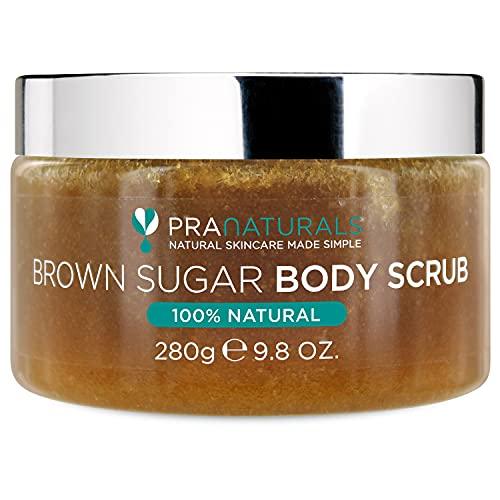 PraNaturals Scrub corpo allo zucchero di canna - Scrub esfoliante naturale...