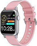 QHG Sports Fitness Tracker Monitor de Ritmo cardíaco Presión Arterial Oxygen Activity Tracker Health Smart Watch para iOS & Androide (Color : Pink)