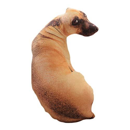 ODJOY-FAN Simulation 3D Hund Kissen Cusion Waschbar Tier Kissen Hund Drucken Kissen Kreativ Plüsch Puppe Geschenk Zuhause Dekor Pillow(F,50cm)