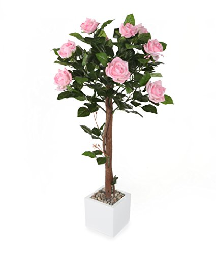 Closer to Nature Artificial 3ft 1' Pink Rose Tree - Artificial Silk Plant and Tree Range