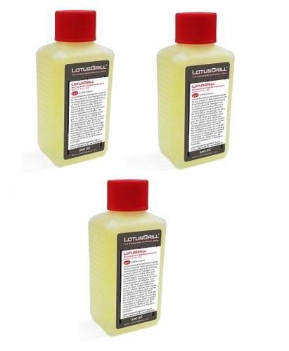 LotusGrill 3X Brennpaste 200 ml! Speziell entwickelt für den raucharmen Holzkohlegrill/Tischgrill