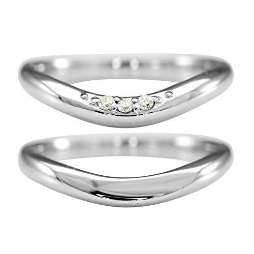 [ココカル]cococaru K10ゴールド ペアリング 2本セット 結婚指輪 マリッジリング ダイヤモンド 日本製(レディースサイズ2号 メンズサイズ19号)