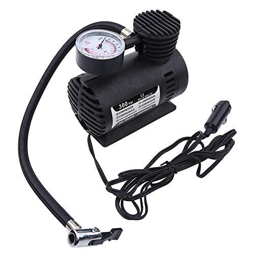 SJSP Mini Bomba de compresor de Aire portátil Infaltor Coche de 12 voltios 300 PSI para Bicicletas, Coches, Motocicletas, triciclos, neumáticos eléctricos, fútbol, Baloncesto, etc.