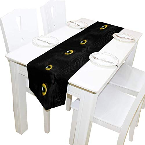 NotApplicable Table Runners Cute Cat Animal Pattern Long Table Runner Dresser Bufandas Decorativas 33X229Cm Hogar Cafe Cocina Mesa De Comedor Fiesta Banquete Decoracion Navidena