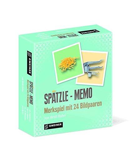 Spätzle-Memo. Merkspiel Mit 24 Bildpaaren