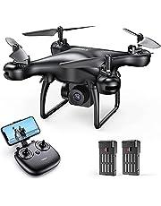 Tomzon 1080P Drone con Cámara para Principiante, Dron WiFi FPV Trayectoria de Vuelo, Baterías de 24 Minutos, 3D Flips, G-Sensor, Modo sin Cabeza, Quadcopter Helicóptero para Adulto
