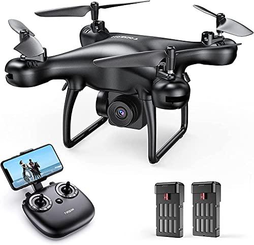 Tomzon D28 1080P Drone con Cámara HD para Principiante, Dron Vuelo de 24 Minutos, G-Sensor Trayectoria de Vuelo 3D Flips Modo sin Cabeza Estabilización de Altitud Mini Drone para Niños y Adultos
