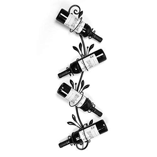 COLiJOL Estante para Vino Estante para Vino de Metal Montado en la Pared Estante para Colgar Copas de Vino Estante para Cocina/Bar Restaurante Estantes para Copas Alenamiento (Color: Negro),Negro