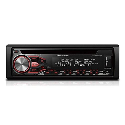 Pioneer DEH-4800FD 400W Black car media receiver - car media receivers (AM,FM, 1 lines, LCD, Black, 400 W, MP3,WAV,WMA)