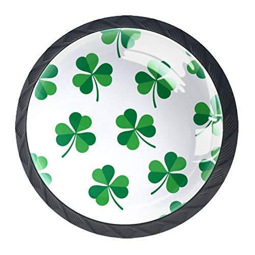 Hojas de trébol verde hojas de trébol sobre fondo blanco hojas de trébol verde hojas hojas de trébol sobre fondo blanco tira de manijas de vidrio para gabinetes de cocina