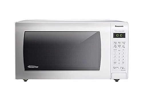 PANASONIC Countertop Microwave Oven with Inverter Technology, Genius Sensor, Turbo Defrost and 1250W of high cooking power – NN-SN736W – 1.6 cu. Ft. (White)