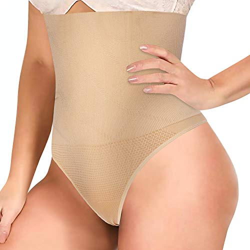 Gotoly Bauchweg Unterhose Damen Shapewear Miederhose Bauch Weg Stark Formend Shaping Sexy Unterwäsche Body Shaper Figurenformend Miederslip Taillenformer Taillenmieder (XS/S, Beige)