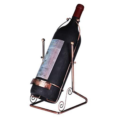 GDDYQ Smeedijzeren Fles Rack, Eettafel Wijnrek Europese Wijnrek 5L Wijn Display Stand home Decoratie