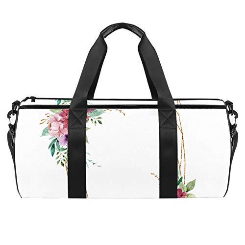 KAIXINJIUHAO Travel Duffel Bag for Women and Men 18',Flower Ring