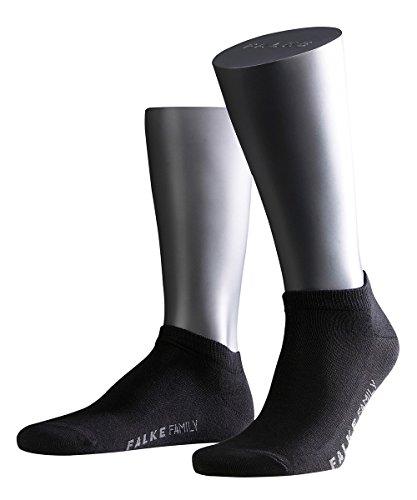 FALKE 3 Paar Socken 14626 Family Sneaker Sommerlicher Kurzstrumpf, Farbe:Black, Socken & Strümpfe:39-42