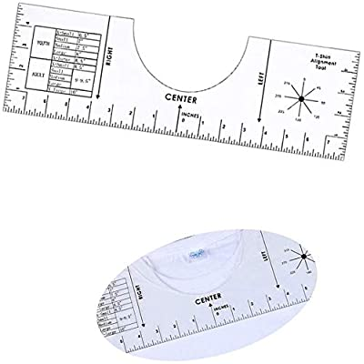 Amazon - Save 50%: T-Shirt Ruler T Shirt Alignment Tool T-Shirt Ruler Guide to Center…