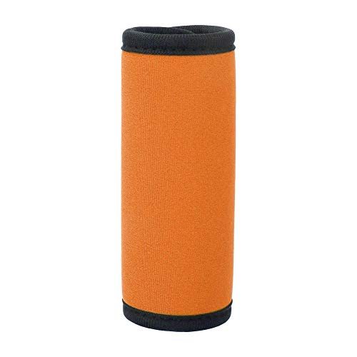 WolfGo Suitcase Handle Cover - Rectangle Soft Luggage Box Car Door Handle Cover Wrap Grips Suitcase Travel Tags(Orange)
