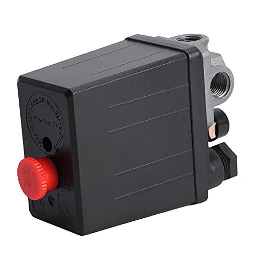 WINOMO - Interruptor para compresor de aire a presión, válvula de control 240V, CA 20A, 175PSI, 12Bar, 4puertos
